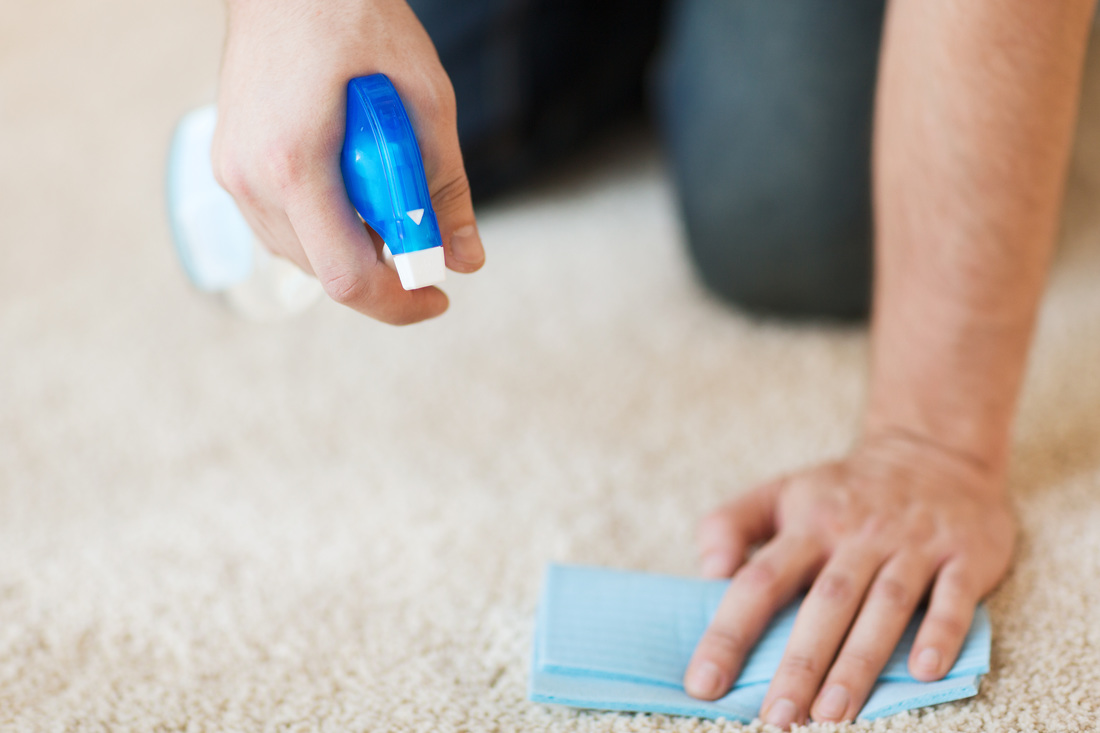 Removing stains from carpet by using correct technique